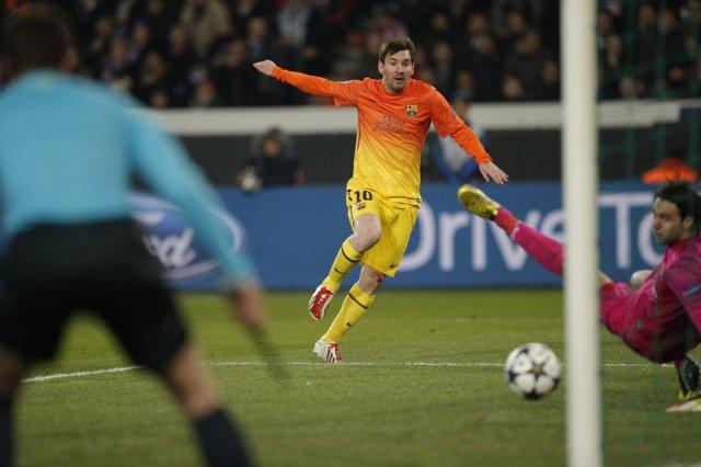 psg 2-2 barça messi goal 2013