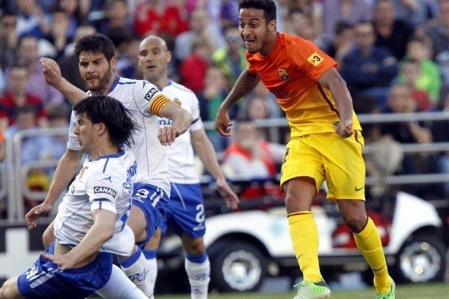 zaragoza 0-3 barcelona thiago alcantara goal