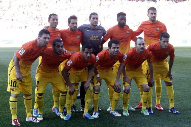 atletico 1-2 fc barcelona team photo champions 2013