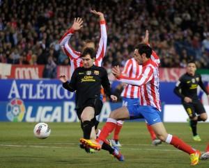 atletico madrid 1-2 barça messi