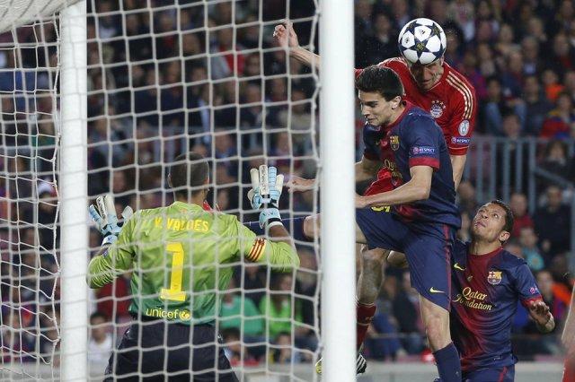 barcelona 0-3 bayern munich third goal Muller 2013