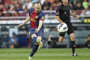 barcelona 4-1 malaga iniesta goal 2013
