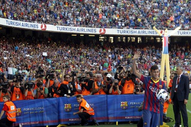 neymar camp nou presentation 2013