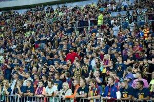 lechia gdansk 2-2 barcelona crowd fans