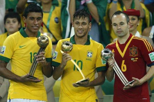 Neymar Iniesta Paulinho 2013