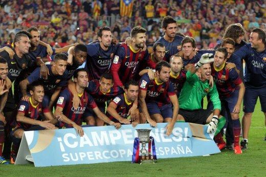 Barcelona Supercopa champions 2013