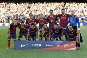 barcelona team photo 201314 vs Levante