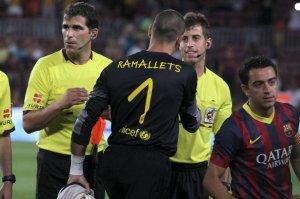 gamper 2013 barcelona 8-0 santos valdes ramallets shirt