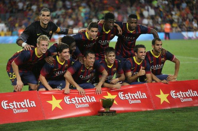 gamper 2013 barcelona 8-0 santos winning team photo