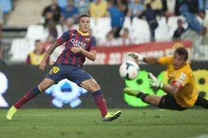 almeria 0-2 barcelona tello chance 2013