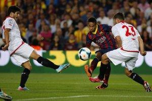 barcelona 3-2 sevilla neymar 2013