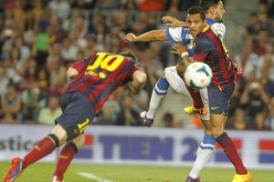 Barcelona 4-1 Real Sociedad Leo Messi goal 2013