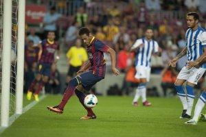 Barcelona 4-1 Real Sociedad Neymar goal 2013