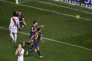 rayo 0-5 barcelona messi goal
