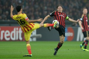 AC Milan 1-1 Barcelona Busquets 2013