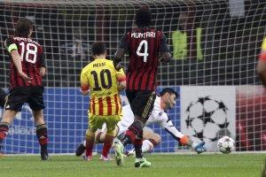 AC Milan 1-1 Barcelona Messi goal 2013