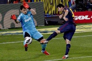 barça 2-2 madrid messi first goal 071012