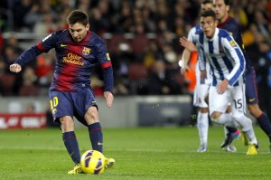 barça 4-0 espanyol messi penalty