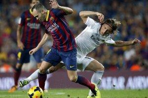 Barcelona 2-1 Real Madrid Iniesta Modric 2013