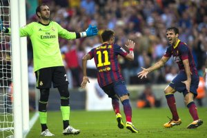 Barcelona 2-1 Real Madrid Neymar first goal celebration 2013