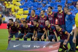 Barcelona 2-1 Real Madrid team photo 2013