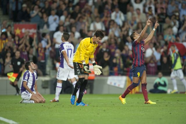 barcelona 4-1 valladolid 2013 alexis second goal