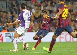 barcelona 4-1 valladolid alexis first goal 2013