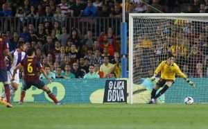 barcelona 4-1 valladolid xavi goal 2013
