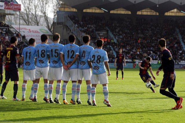 celta 2-2 barcelona messi free kick balaidos 2013
