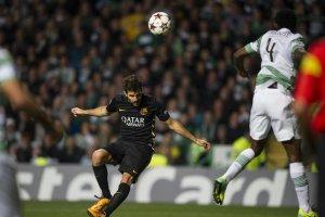 celtic 0-1 barcelona Fabregas heads goal 2013