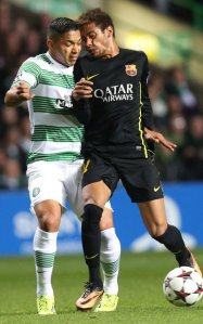 celtic 0-1 barcelona neymar clash heads 2013