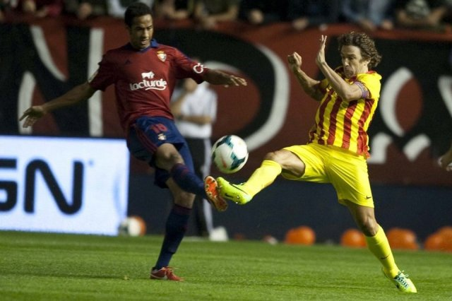 Osasuna 0-0 Barcelona Carles Puyol 2013
