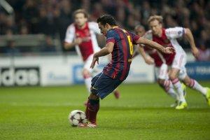 Ajax 2-1 Barça Xavi penalty 2013