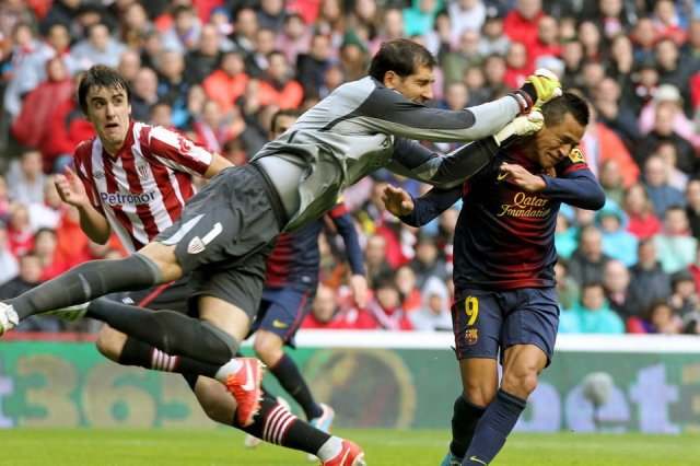 athletic 2-2 barcelona alexis iraizoz 2013