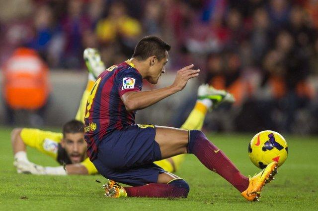 barça 1-0 espanyol alexis goal 2013