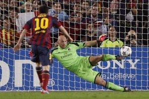 barça 3-1 milan messi penalty 2013