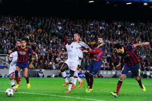 barça 3-1 milan sergio busquets 2-0 goal 2013