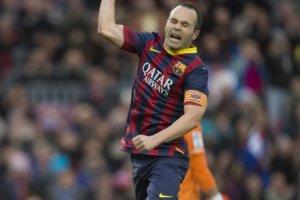 Barça 4-0 Granada Iniesta celebrates goal 2013