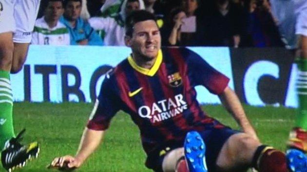 Messi Cedera Otot Biseps Femoris