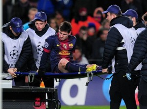 messi injured psg 2013