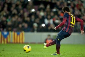 Barça 2-1 Villarreal Neymar penalty goal 2013
