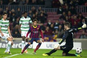 Barça 6-1 Celtic Neymar hat-trick goal 2013