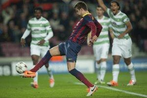 Barça 6-1 Celtic Piqué goal 2013