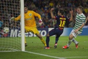 barcelona 2-1 celtic alba goal