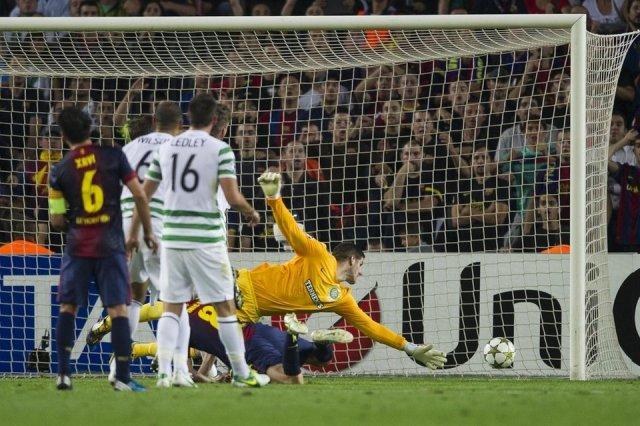 barcelona 2-1 celtic andres iniesta gol