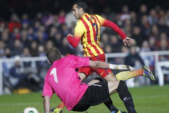 Cartagena 1-4 Barcelona Pedro 2nd goal copa del rey 2013