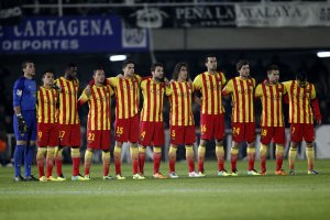 Cartagena 1-4 Barcelona team photo copa del rey 2013