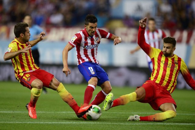 Atlético 0-0 Barça Alba Villa Piqué 2014