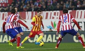 Atlético 0-0 Barça Messi 2014