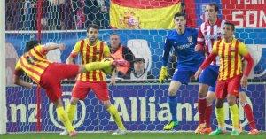 Atlético 0-0 Barça Xavi volley 2014